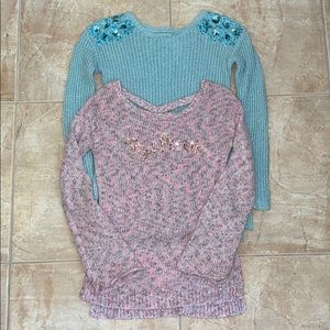 Justice Size 12 knit sweater bundle